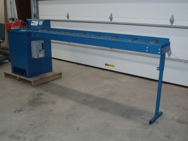 Crosscut Solutions in feed option. Conveyors are offered in a variety of lengths. Gauge bar and stops are available.